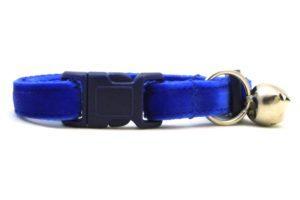 Blue Velvet Breakaway Cat Collar by Swanky Kitty – clip
