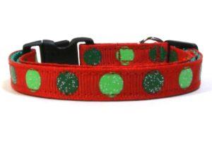 Christmas Dot Breakaway Cat Collar by Swanky Kitty