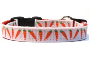 Easter Carrots Breakaway Cat Collar by Swanky Kitty