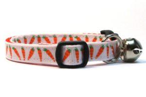 Easter Carrots Breakaway Cat Collar by Swanky Kitty – side