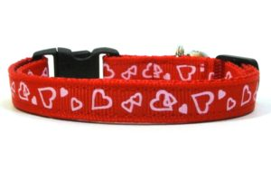 Hearts Breakaway Cat Collar by Swanky Kitty