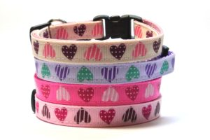 Light Pink Sweethearts Breakaway Cat Collar by Swanky Kitty – all