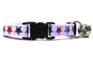 Patriotic Stars Breakaway Cat Collar by Swanky Kitty – clip