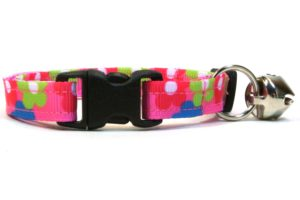 Pink Flowers Breakaway Cat Collar by Swanky Kitty – clip