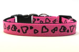 Pink Valentines Breakaway Cat Collar by Swanky Kitty