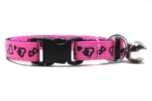 Pink Valentines Breakaway Cat Collar by Swanky Kitty – clip