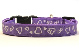Purple Valentines Breakaway Cat Collar by Swanky Kitty
