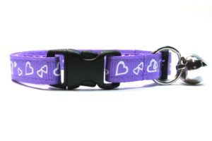 Purple Valentines Breakaway Cat Collar by Swanky Kitty – clip