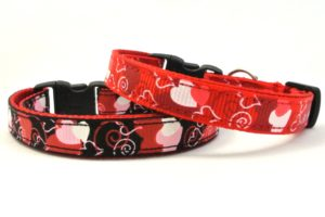 Red & Black Cupid Breakaway Cat Collar by Swanky Kitty