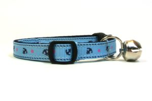 Anchor Breakaway Cat Collar by Swanky Kitty – side
