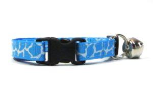 Blue Giraffe Print Breakaway Cat Collar by Swanky Kitty – clip