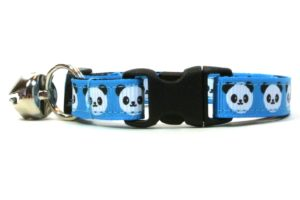Blue Pandas Breakaway Cat Collar by Swanky Kitty – clip