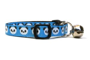 Blue Pandas Breakaway Cat Collar by Swanky Kitty – side