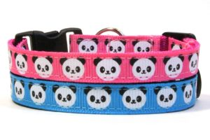 Blue & Pink Pandas Breakaway Cat Collars by Swanky Kitty