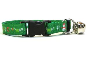 Green Merry Christmas Breakaway Cat Collar by Swanky Kitty – clip