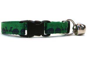 Green Moby Dick Breakaway Cat Collar by Swanky Kitty – clip