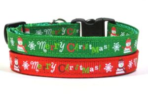Merry Christmas Breakaway Cat Collar by Swanky Kitty – Red & Green