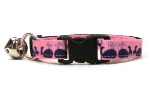 Pink Moby Dick Breakaway Cat Collar by Swanky Kitty – clip