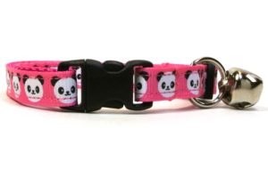 Pink Pandas Breakaway Cat Collar by Swanky Kitty – clip