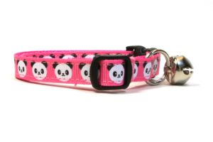 Pink Pandas Breakaway Cat Collar by Swanky Kitty – side