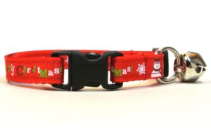 Red Merry Christmas Breakaway Cat Collar by Swanky Kitty – clip