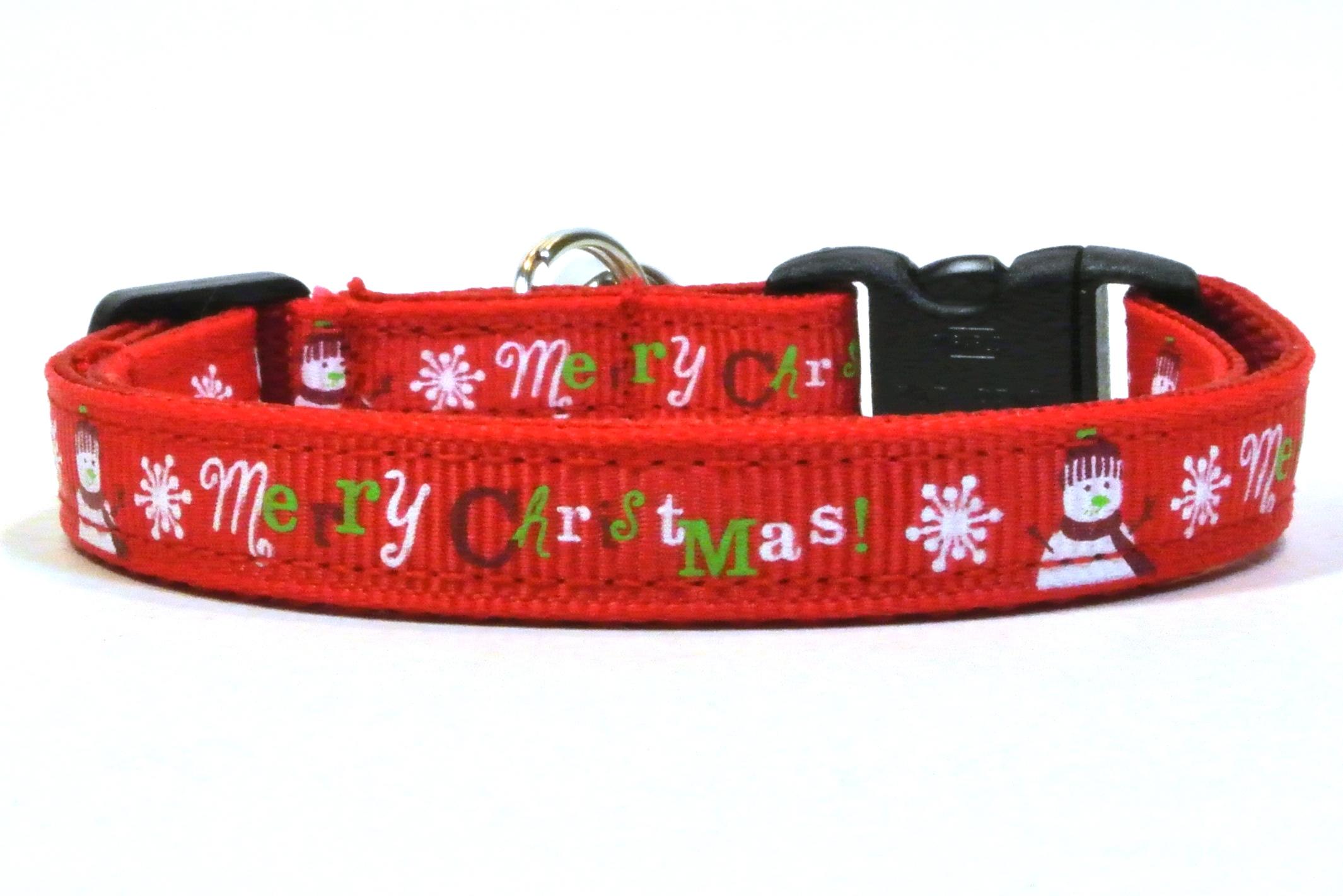 christmas breakaway cat collar red
