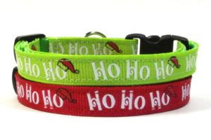 hohoho Christmas Breakaway Cat Collars by Swanky Kitty