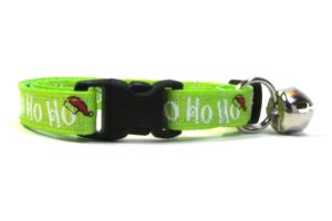 hohoho Green Christmas Breakaway Cat Collar by Swanky Kitty – clip