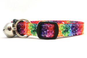 Featherd Rainbow Breakaway Cat Collar by Swanky Kitty