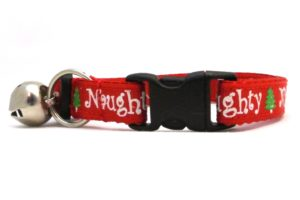 Naughty or Nice Christmas Breakaway Cat Collar by Swanky Kitty – clip