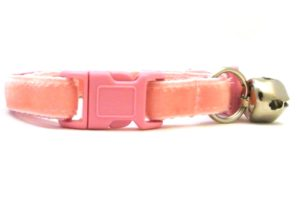 Light Pink Velvet Breakaway Cat Collar by Swanky Kitty – clip