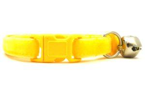 Yellow Velvet Breakaway Cat Collar by Swanky Kitty – clip