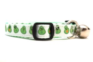 Avocado Breakaway Cat Collar by Swanky Kitty – side