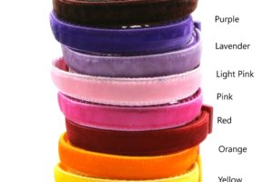 Colors 1 Velvet Breakaway Cat Collar by Swanky Kitty – Copy